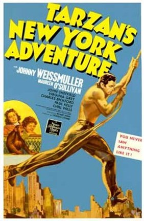 Framed Tarzan's New York Adventure, c.1942 Print