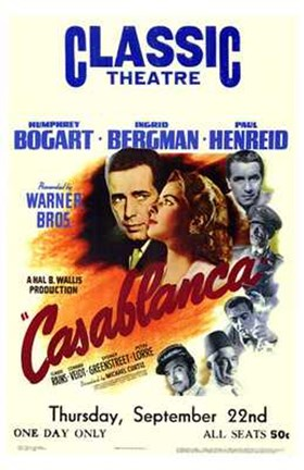Framed Casablanca Classic Theater Print