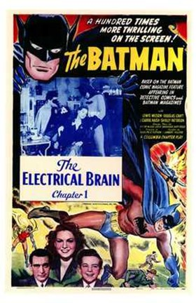 Framed Batman The Electrical Brain Print