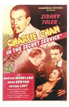 Framed Charlie Chan in the Secret Service Print