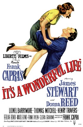 Framed It's a Wonderful Life Frank Capra - Liberty Films Print