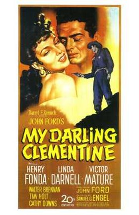 Framed My Darling Clementine - tall Print