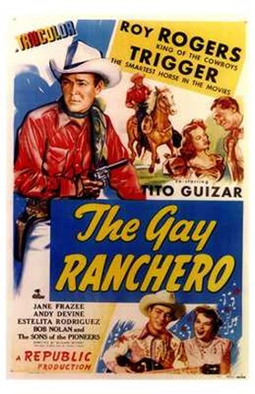 Framed Gay Ranchero Print