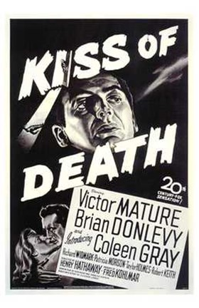 Framed Kiss of Death Coleen Gray Print