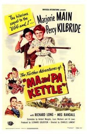 Framed Ma Pa Kettle Print