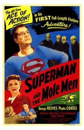 Framed Superman and the Mole Men Print