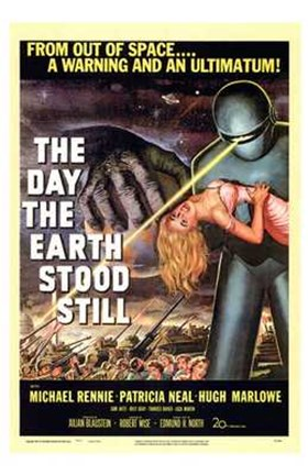 Framed Day the Earth Stood Still From Outer Space Print