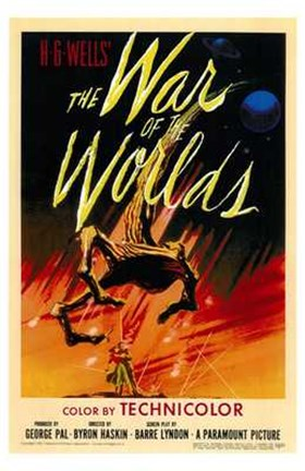 Framed War of the Worlds Original Print