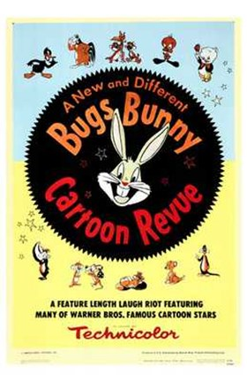Framed Bugs Bunny a Cartoon Revue Print