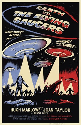 Framed Earth Vs the Flying Saucers Print