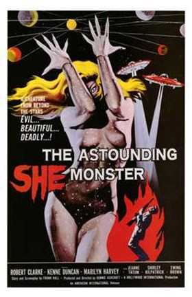 Framed Astounding She-Monster Print