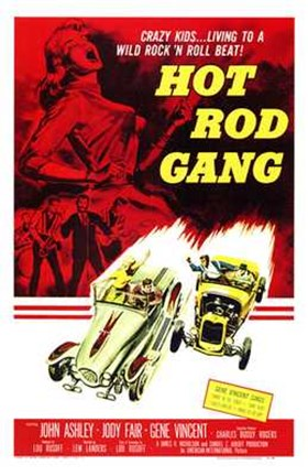 Framed Hot Rod Gang Print