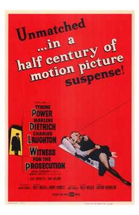 Framed Witness for the Prosecution - red Print