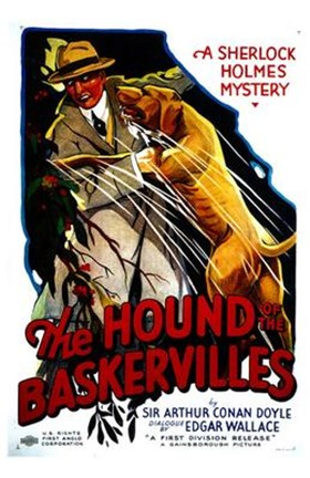 Framed Hound of the Baskervilles Sherlock Holmes Print