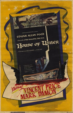 Framed House of Usher Print