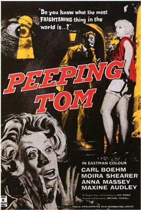 Framed Peeping Tom Carl Boehm Moira Shearer Print