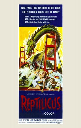 Framed Reptilicus Print