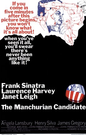 Framed Manchurian Candidate Sinatra Harvey Print