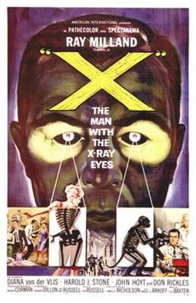 Framed X: the Man with X-Ray Eyes Print
