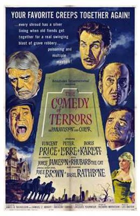 Framed Comedy of Terrors Print
