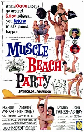 Framed Muscle Beach Party Print