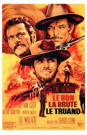 Framed Good  the Bad and the Ugly French Print