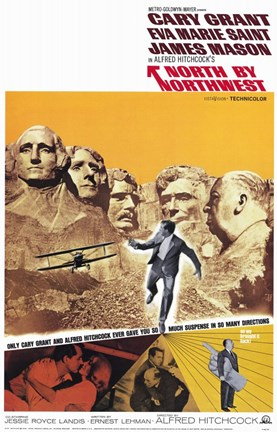 Framed North By Northwest Mount Rushmore Print
