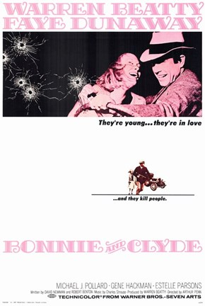 Framed Bonnie and Clyde Beatty Dunaway Print