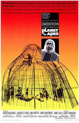 Framed Planet of the Apes Cave Print