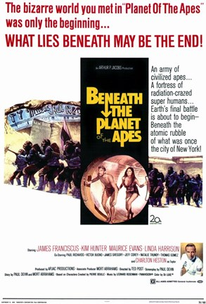 Framed Beneath the Planet of Apes Print
