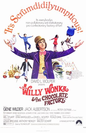 Framed Willy Wonka and the Chocolate Factory - It's Scrumdidilyumptious Print