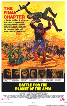 Framed Battle for the Planet of the Apes Print