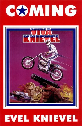 Framed Viva Knievel movie poster Print