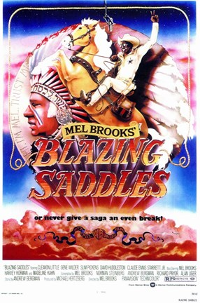 Framed Blazing Saddles Print