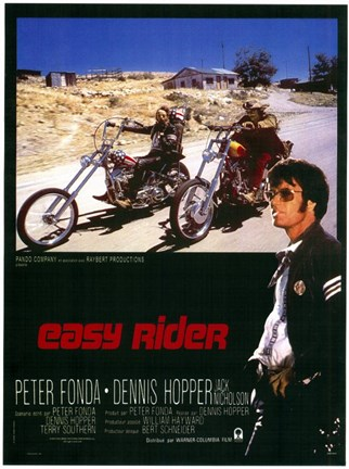 Framed Easy Rider Motorcycle Bikers Print