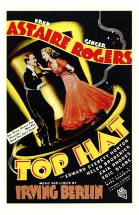 Framed Top Hat - Astaire Rogers Print