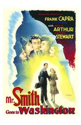 Framed Mr Smith Goes to Washington Capra Arthur Stewart Print