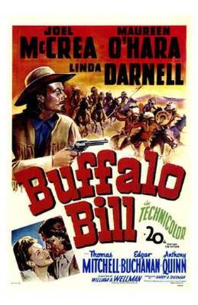 Framed Buffalo Bill Joel McCrea Print