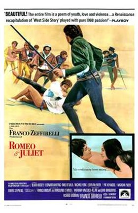 Framed Romeo and Juliet Franco Zeffirelli Print