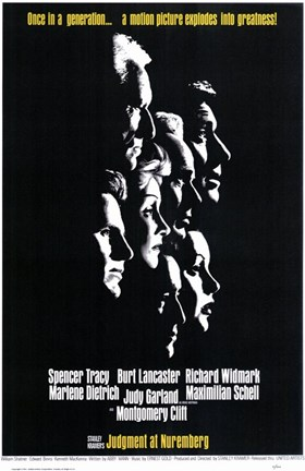 Framed Judgment At Nuremberg Print