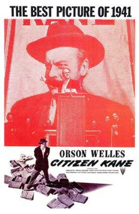 Framed Citizen Kane Best Picture of 1941 Print