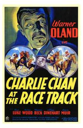 Framed Charlie Chan At the Race Track Print