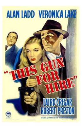Framed This Gun for Hire Veronica Lake Print