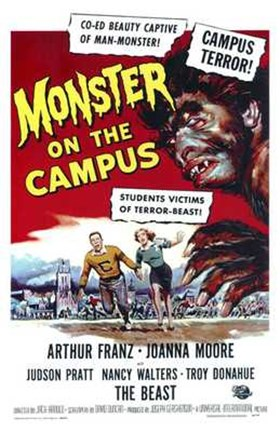 Framed Monster on the Campus Joanna Moore Print