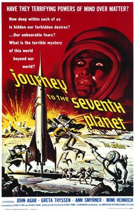 Framed Journey to the Seventh Planet Print