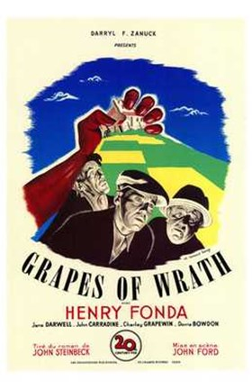 Framed Grapes of Wrath - Henry Fonda Print