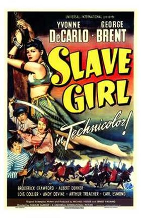 Framed Slave Girl Print