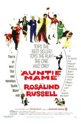 Framed Auntie Mame Print