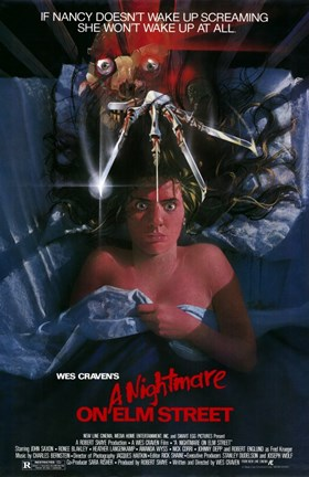 Framed Nightmare on Elm Street  a Print