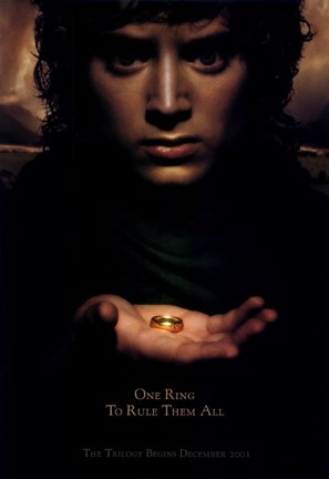 Framed Lord of the Rings: Fellowship of the Ring Frodo with Ring Print